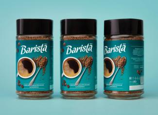 Fabula Branding разработала дизайн упаковки для растворимого кофе Barista